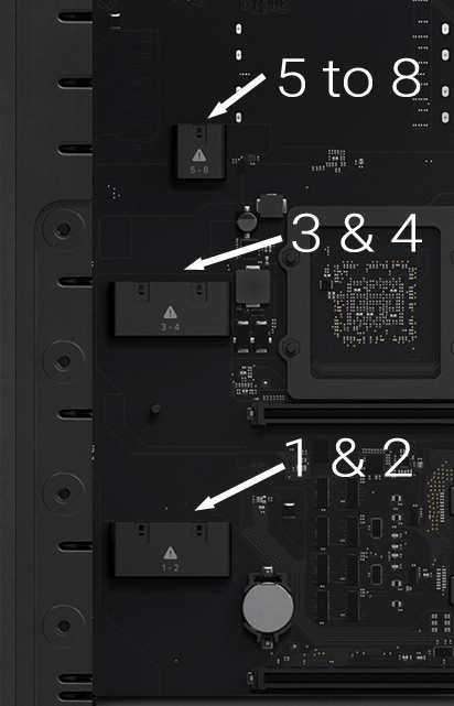 Mac Pro Auxiliary Power Sockets