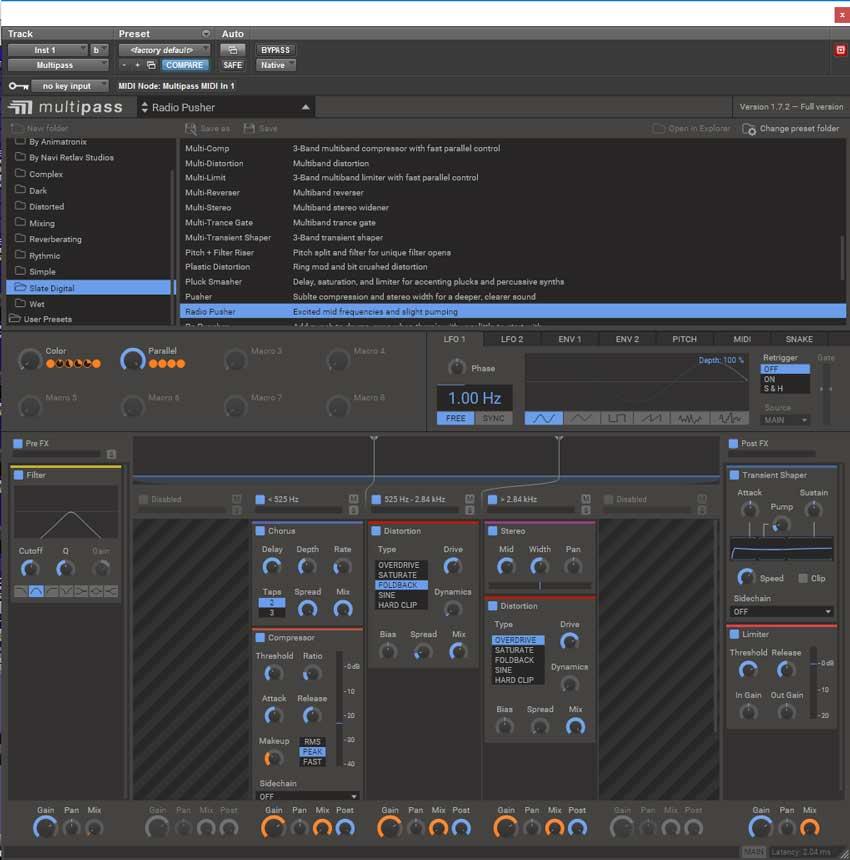 The main Multipass GUI.