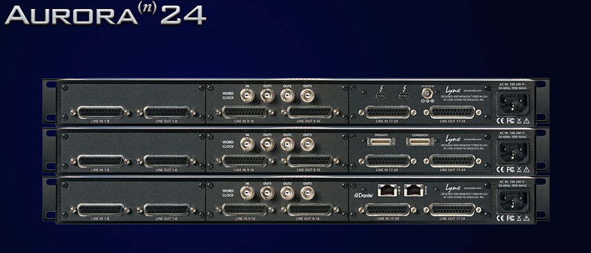Aurora n in a series of 24 channel configurations.