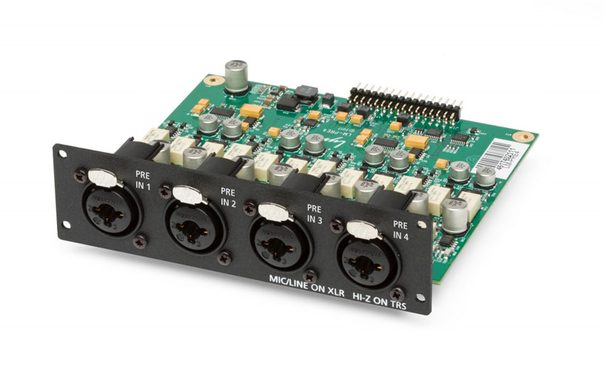 4 Channel mic and line input card for the Lynx Aurora n.