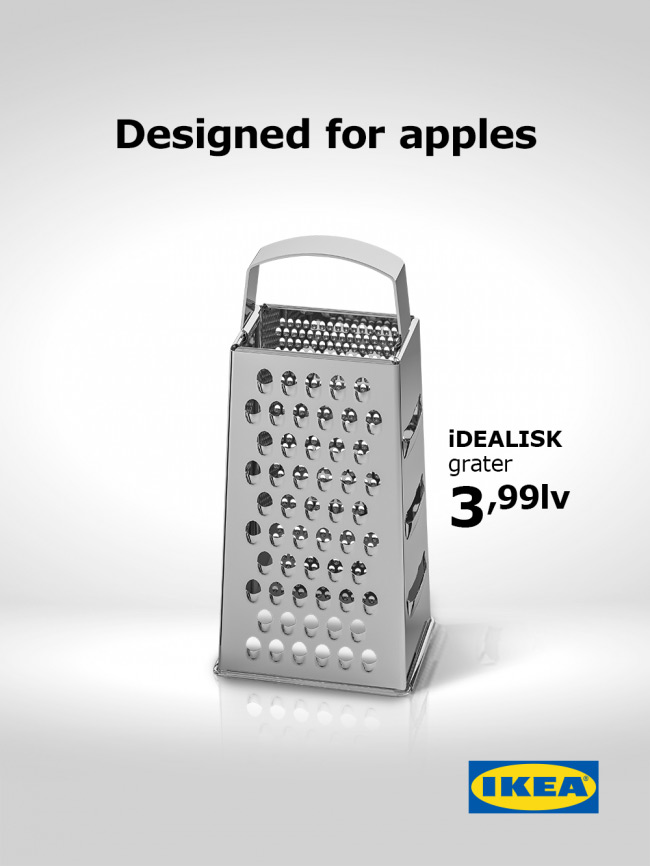 IKEA Apple Cheese Grater Ad