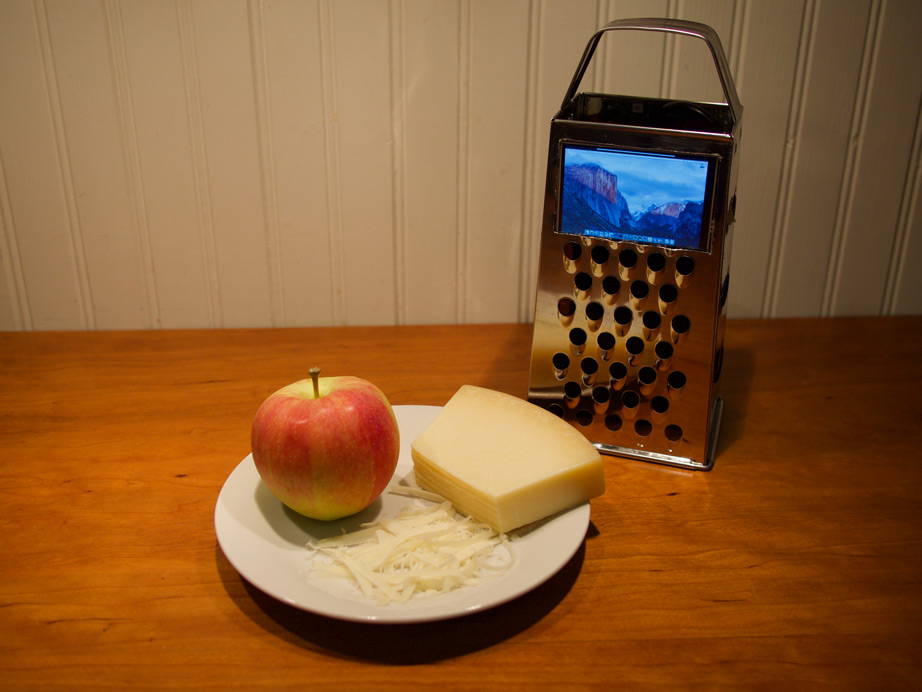 Applefritter iCanWait Cheese-grater Raspberry Pi computer