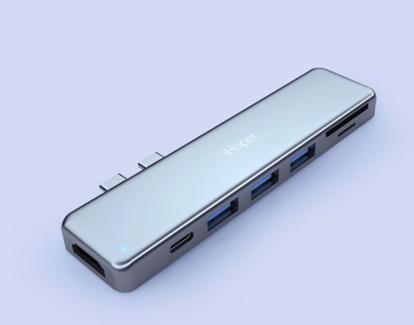 The iHaper 7 into 2 USB-C Converter add on unit.