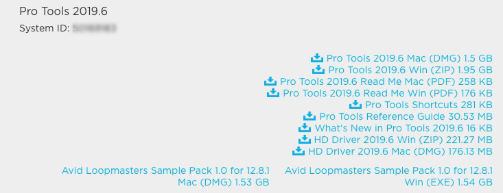 Pro Tools 2019.6 In Avid Master Account