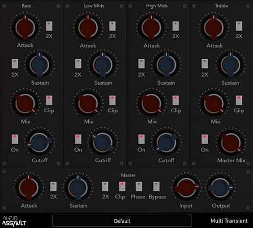Best transient shaper designer plug-in to buy mix with Multi Transient - Audio Assault.png