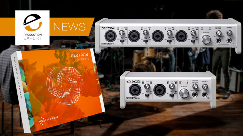 Tascam and iZotope join forces to offer Neutron Elements to Series 208i and 102i customers.