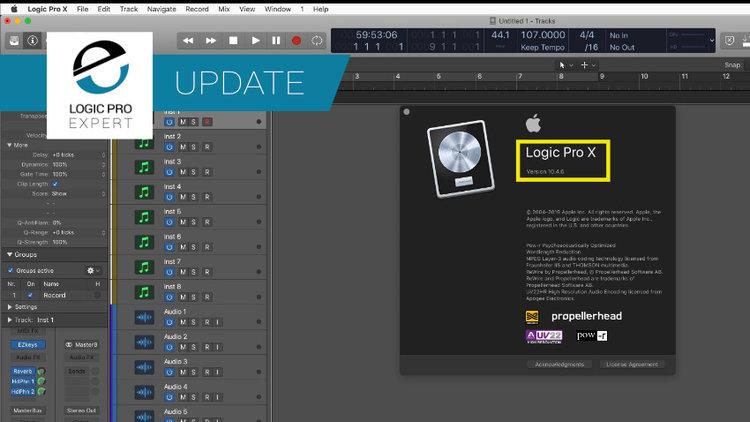 Logic Pro X 10 4 6 is Out   Logic Pro