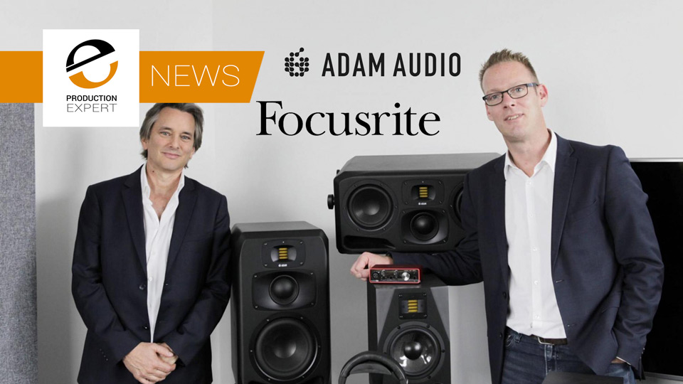 Adam Audio Become Part Of The Focusrite Group