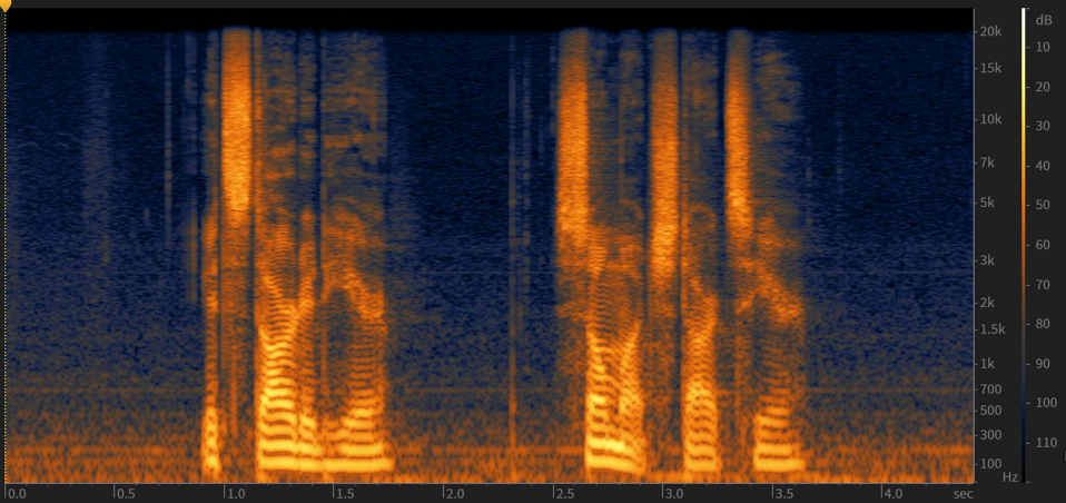 how we see audio in DAW different forms of visuals Spectrogram Waveform display.png