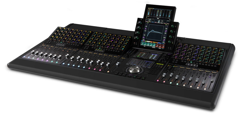 Avid S4 - 24 Faders - 4 foot frame with Master Touch Module, Automation Module, and 3 Channel Strip Modules