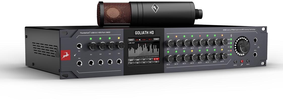 Antelope Audio 3rd-Generation Goliath HD Audio Interface Front Panel