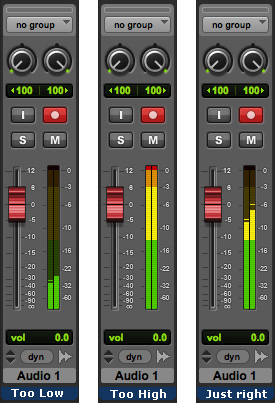 Meters in Pro Tools