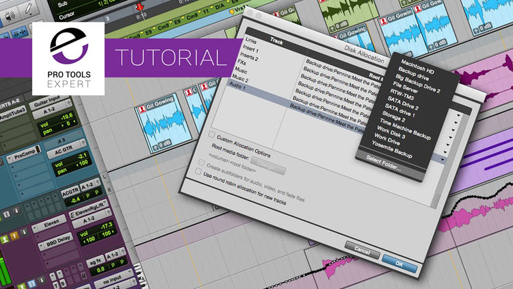Understanding The Disk Allocation Window In Pro Tools - Expert