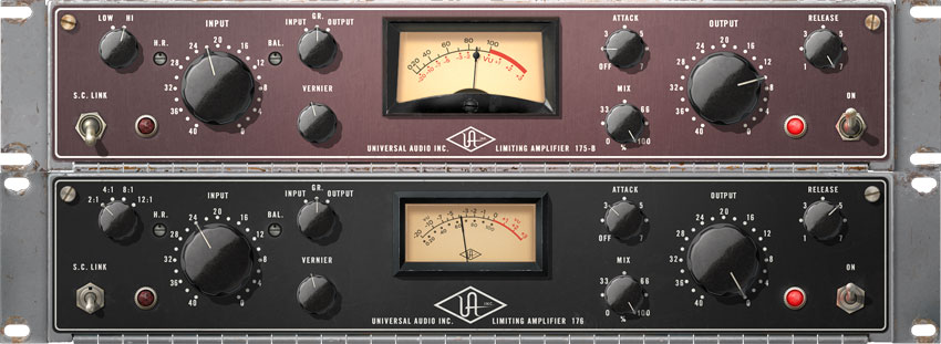 The new UAD 9.10 software adds the 175B and 176 Vintage Tube Compressor Collection to the plug-in selection.