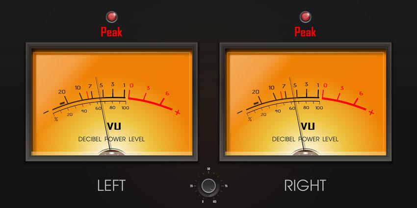 Stereo VU Meters.