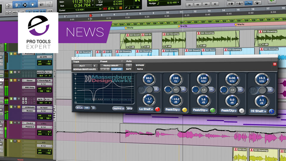 Massenburg Finally Release A Working Version of Their MDW EQ5 64 Bit Plugin For AAX DSP And AAX Native