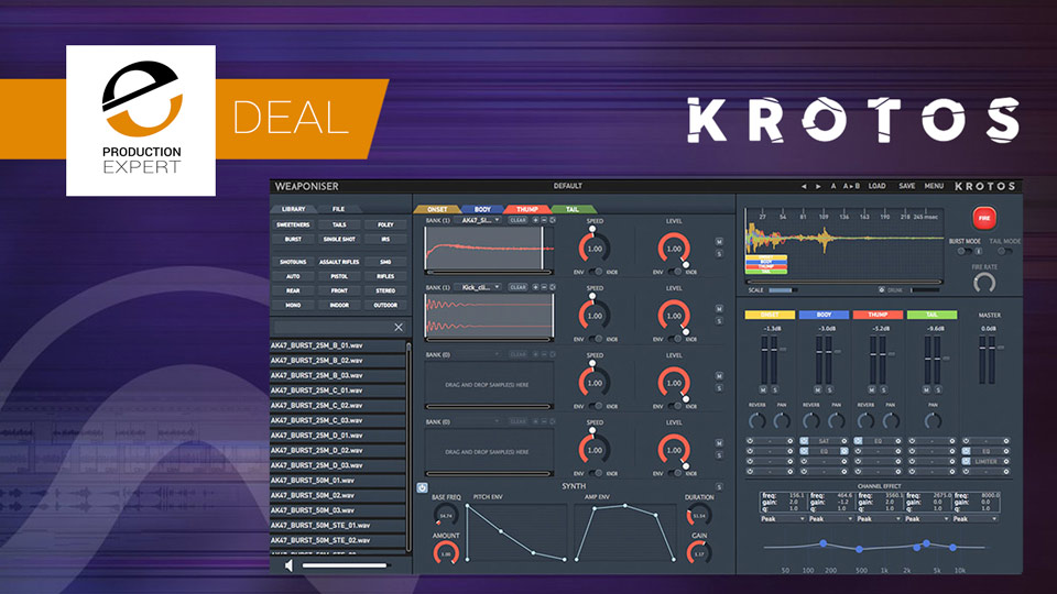 Save 40% On Weaponiser Basic And Fully Loaded From Krotos Until September 30th 2019
