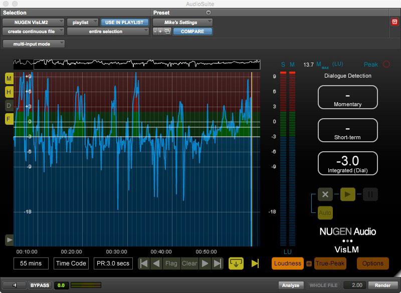 Nugen Audio VisLM AudioSuite Plugin