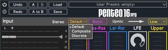 Penteo 16 Pro Centre Modes List