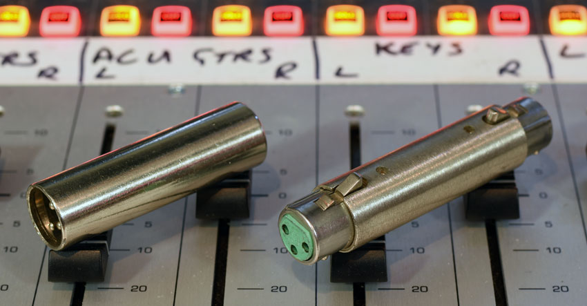 XLR to XLR Connectors: Male to Male and Female to Female.