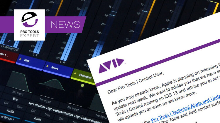 Avid Advises Pro Tools Users NOT To Upgrade to iOS 13 Yet