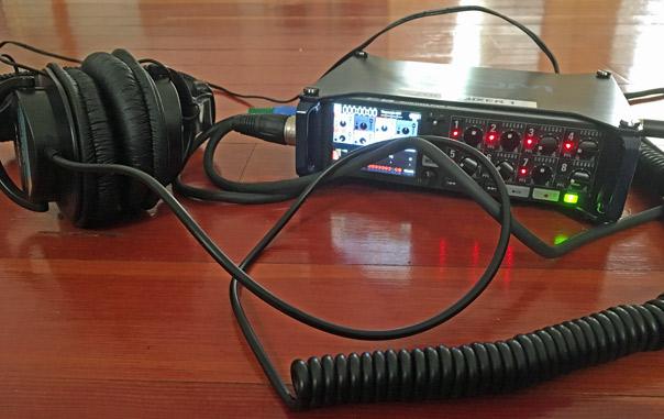 Zoom F8n recording impulse recordings in the sanctuary