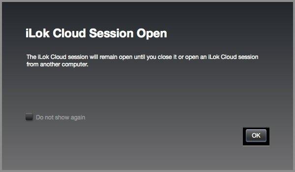 iLok Cloud Session Open