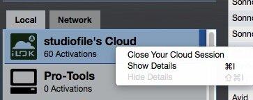iLok Cloud - Show Details