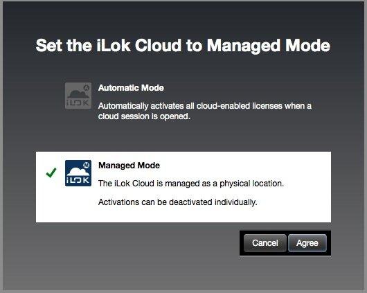 Managed Mode Dialog Box