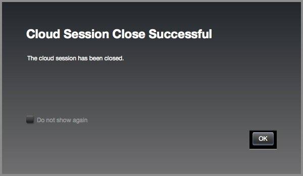 iLok Cloud Session Close Successful