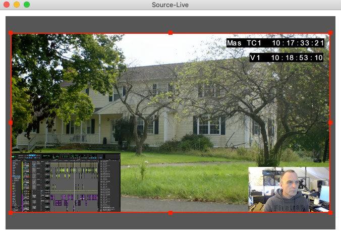 Fuente en vivo de baja latencia con imagen en imagen