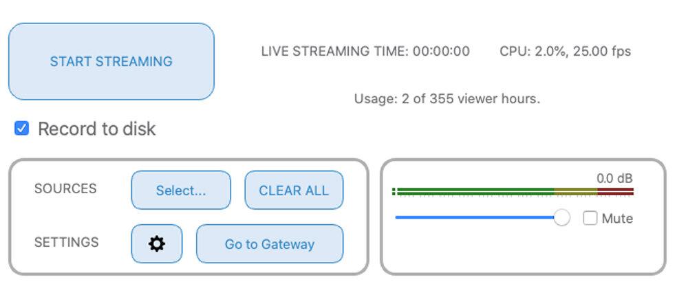 Source Live LL - Iniciar transmisión