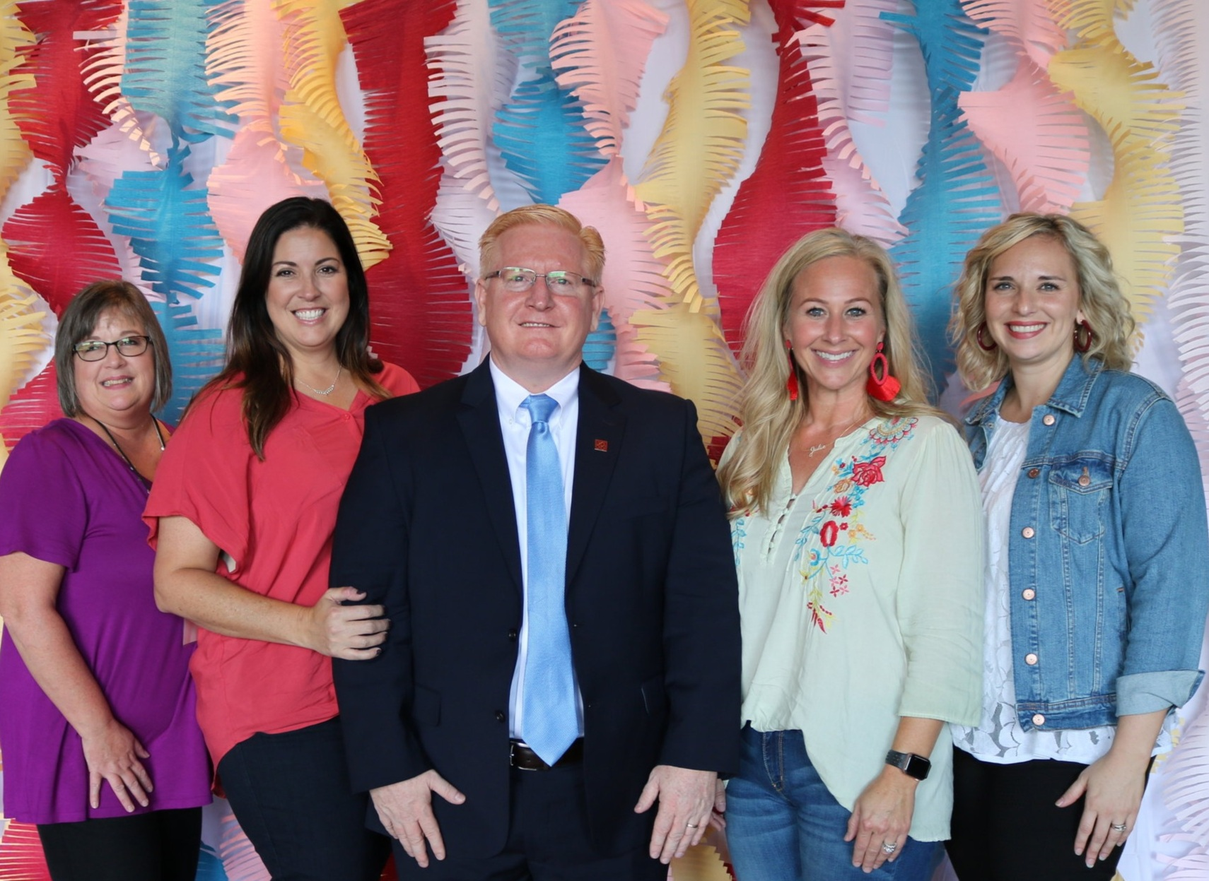 Dr. Rick Bateman, Chancellor of Bossier Parish Community College with the Career Compass Executive Leadership Team.