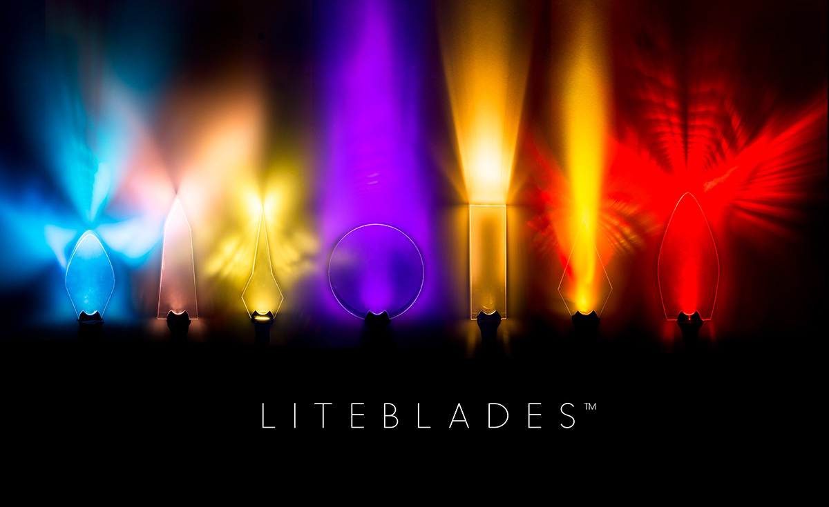 LITEBLADES for light painting textures, trails and effects. Email for prices and consultation.