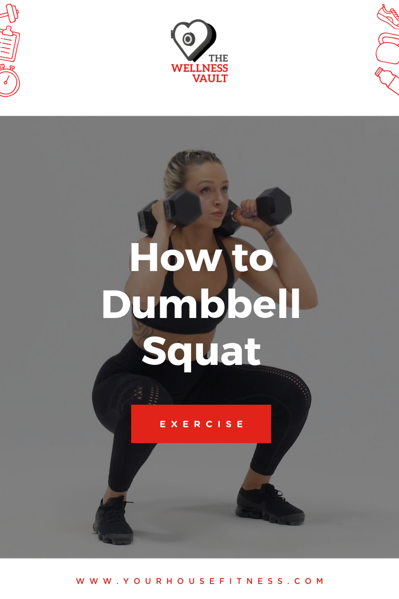 How to Dumbbell Squat Picture