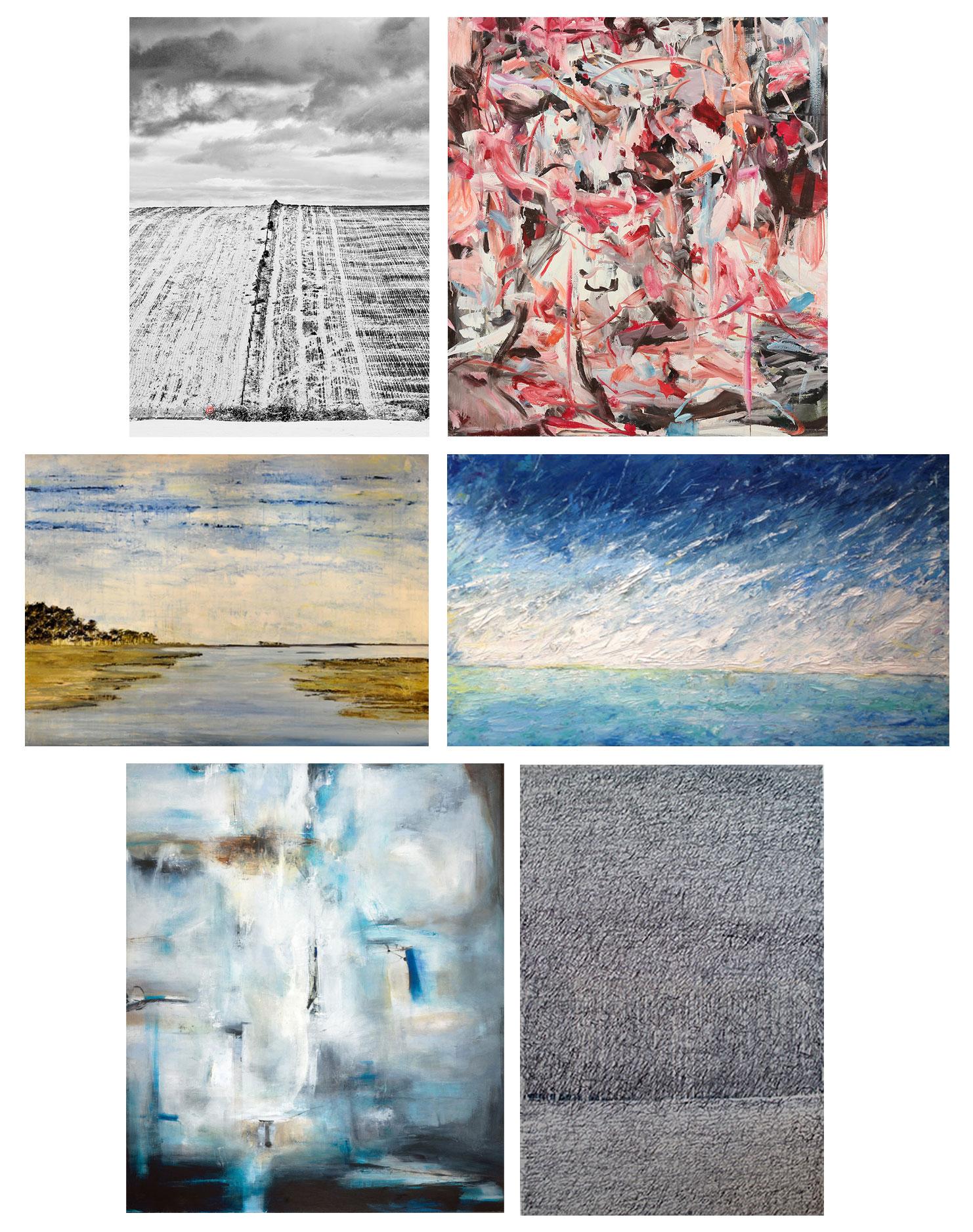 Artists: Brian McCloud, Sherrie Franssen (Dolby Chadwick Gallery), Manok Cohan (Barndiva), Alison Haley Paul (Aerena Galleries), Sargam Griffin and Anastasia Faiella (Aerena Galleries)