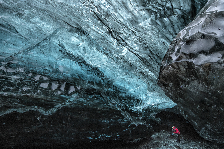 Under Vatnajokull Glacier, Iceland