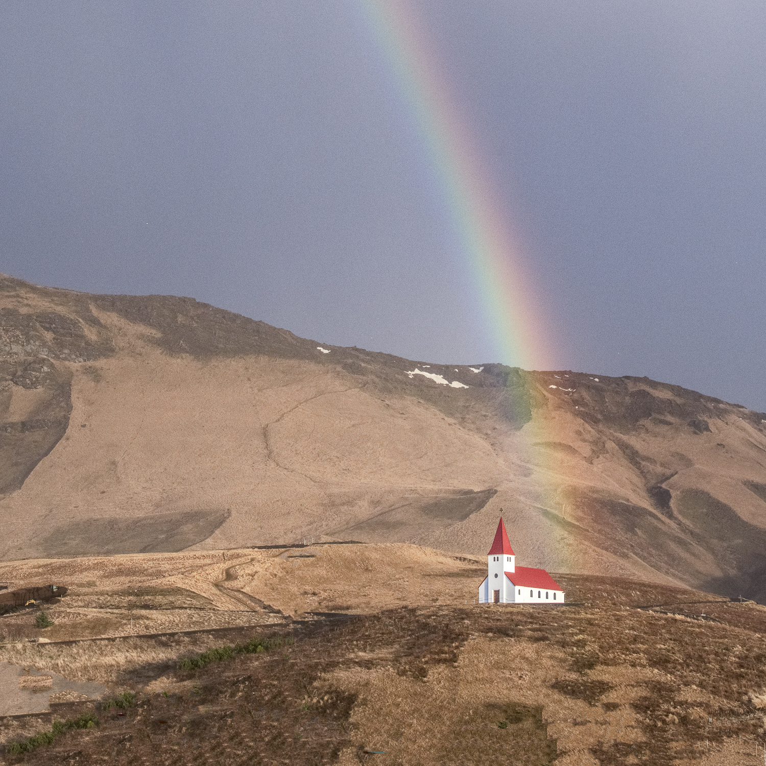 Rainbow Over Vik, Iceland