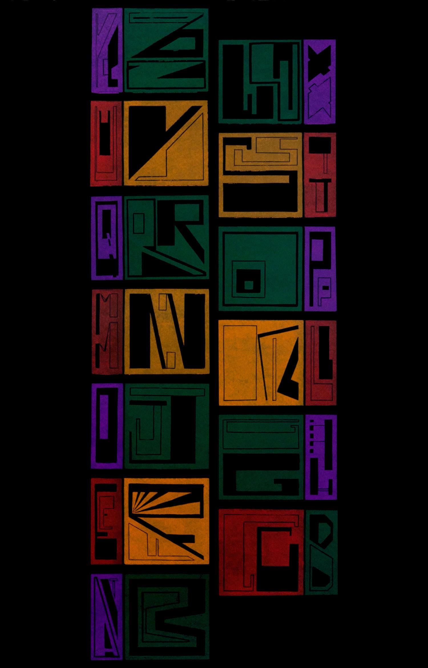 Black Alphabet Up