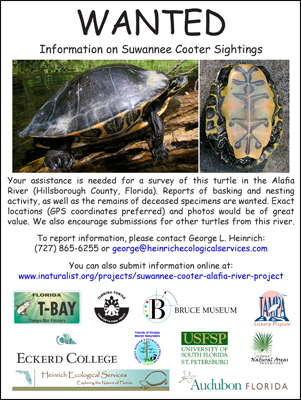 Flyer created for citizens to document their sighting of this species.