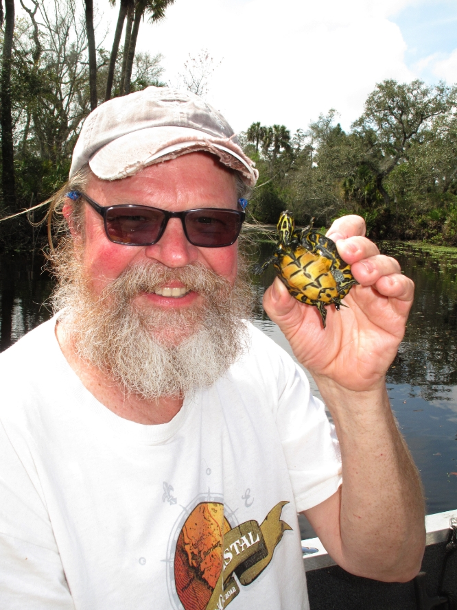 George L. Heinrich with a juvenile Suwannee cooter ( Pseudemys concinna suwanniensis ) during recent fieldwork in west-central Florida Photograph by Ernest C. Simmons.