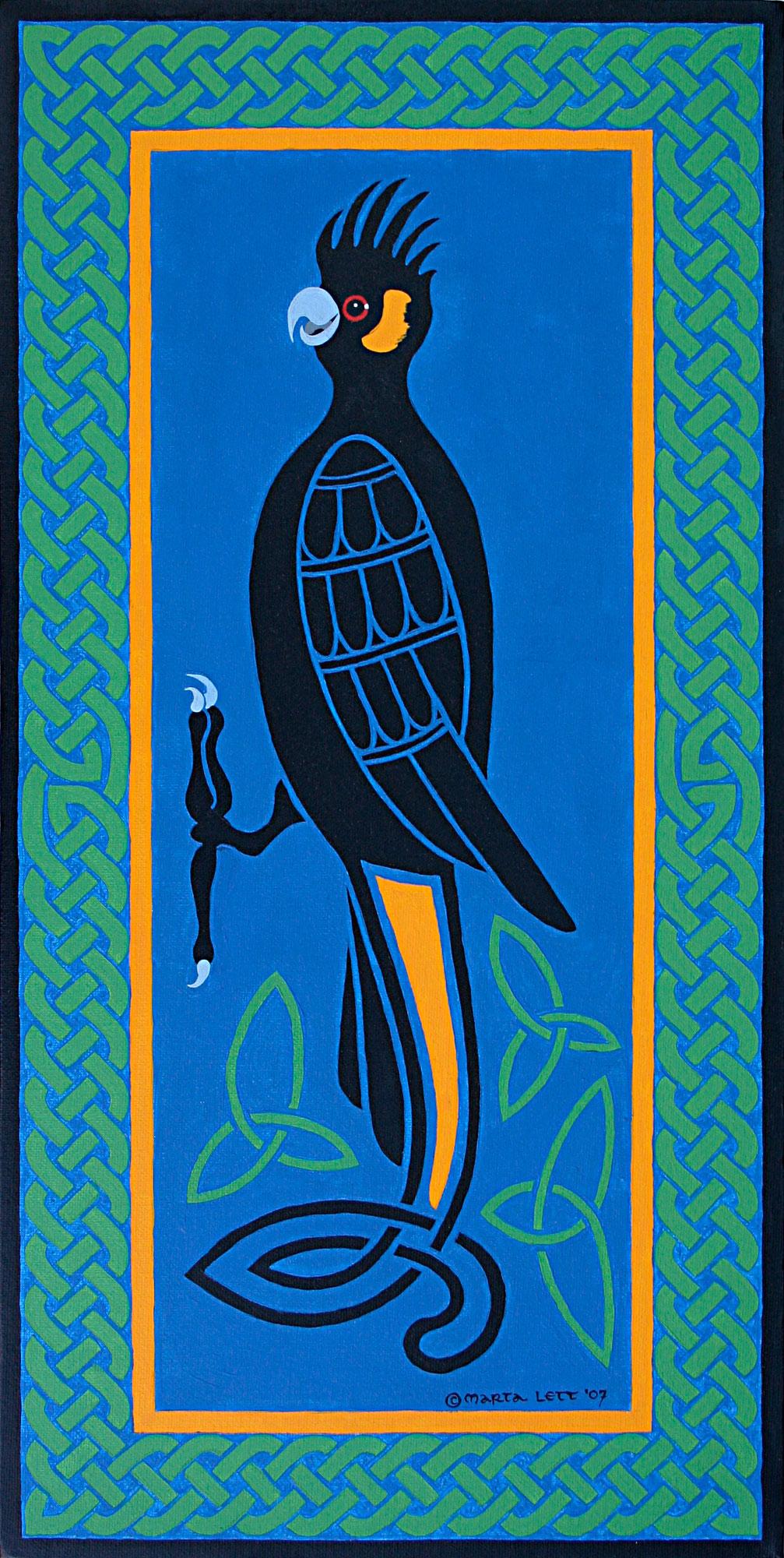 Yellow-tail Black Cockatoo