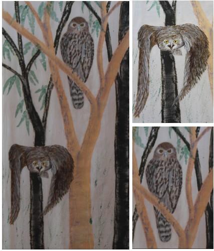 Barking Owl Banner - details