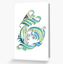 Greeting Card - 'Gothic G'