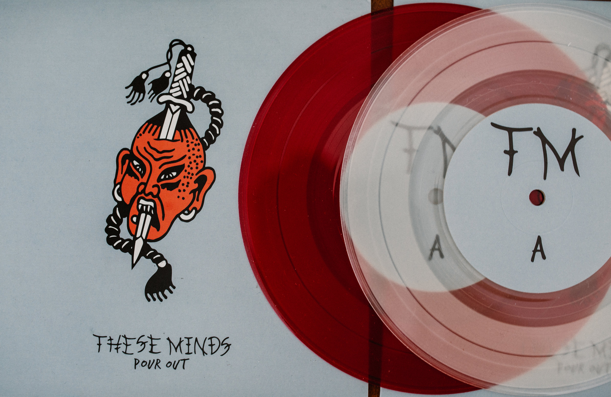 "THESE MINDS 'POUR OUT' VINYL 7"" - $6"
