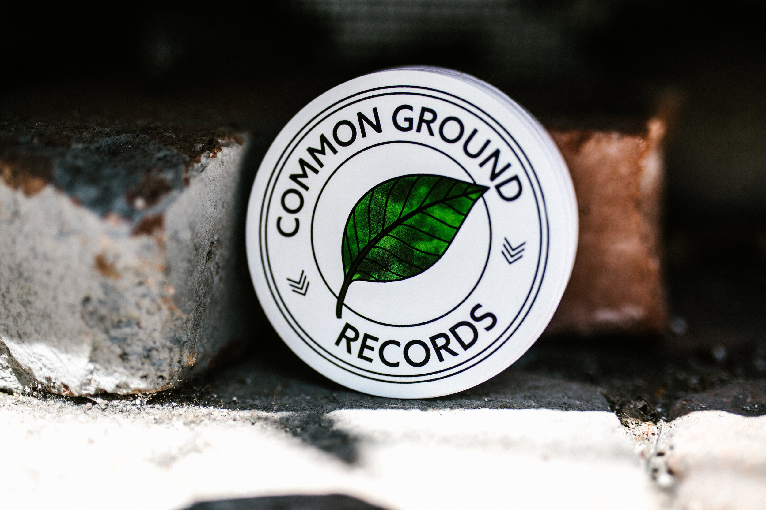 COMMON GROUND LOGO STICKER - $0.50