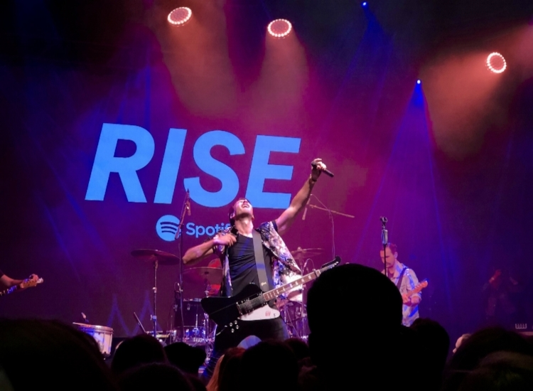 Russell Dickerson at Spotify's RISE Fans First event--December 5th, 2017--Top Golf, Nashville, TN