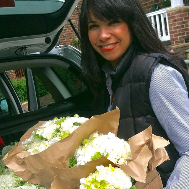 This wedding was so beautiful and as you can tell I was super excited to get it packed up and out the door! #tbt to when I was also a florist and used to be at the #flowermarket at dawn. #throwback #floristlife #weddingflorist #thursdaythoughts #ivebeenaroundsince