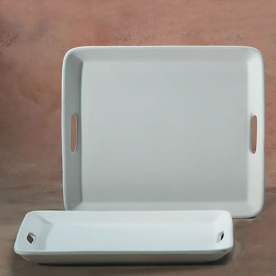 Rectangle Serving Tray with Handles
