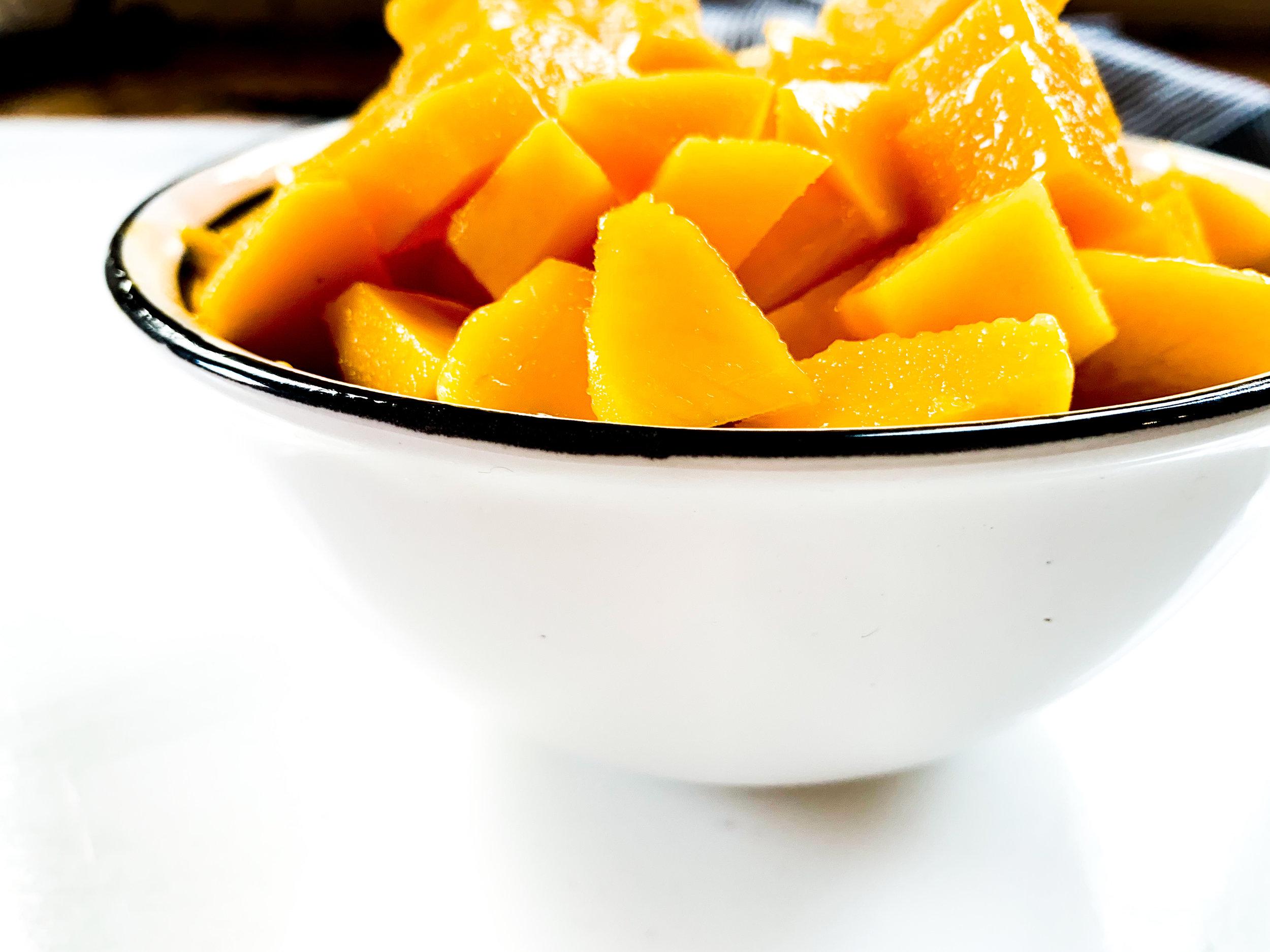fresh mango // ropa vieja recipe